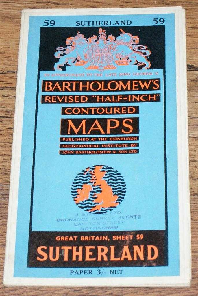 "Image for Sutherland - Bartholomew's Revised ""Half-Inch"" Contoured Maps, Great Britain Sheet 59"