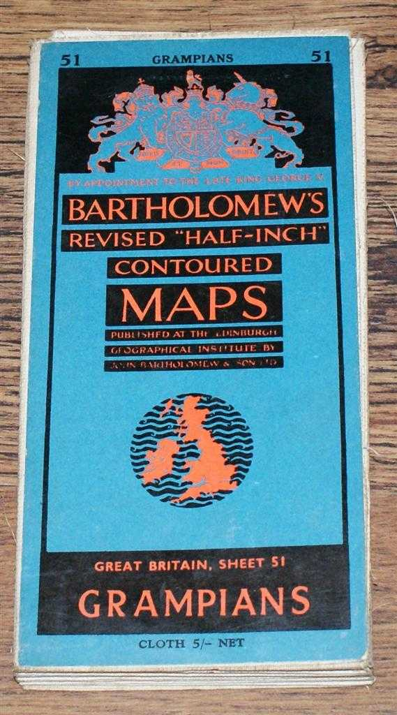 "Image for Grampians - Bartholomew's Revised ""Half-Inch"" Contoured Maps, Great Britain Sheet 51"