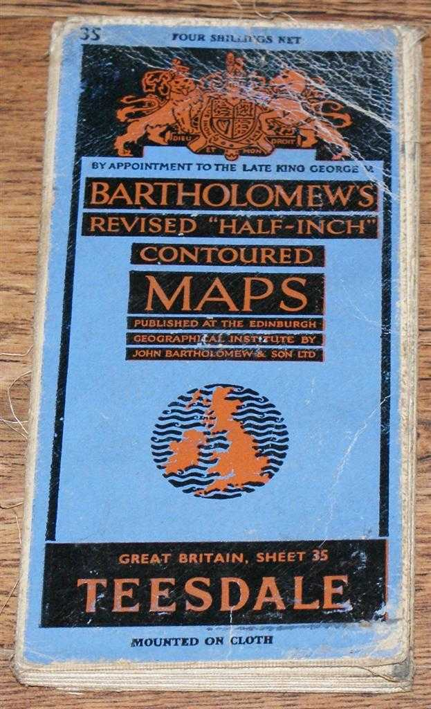 "Image for Teesdale - Bartholomew's Revised ""Half-Inch"" Contoured Maps, Great Britain Sheet 35"