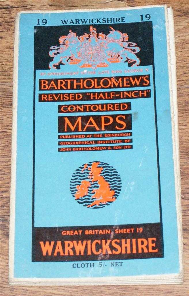 "Image for Warwickshire - Bartholomew's Revised ""Half-Inch"" Contoured Maps, Great Britain Sheet 19"