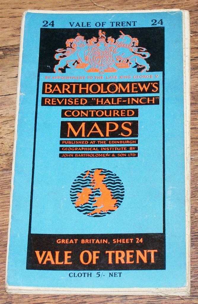 "Image for Vale of Trent - Bartholomew's Revised ""Half-Inch"" Contoured Maps, Great Britain Sheet 24"