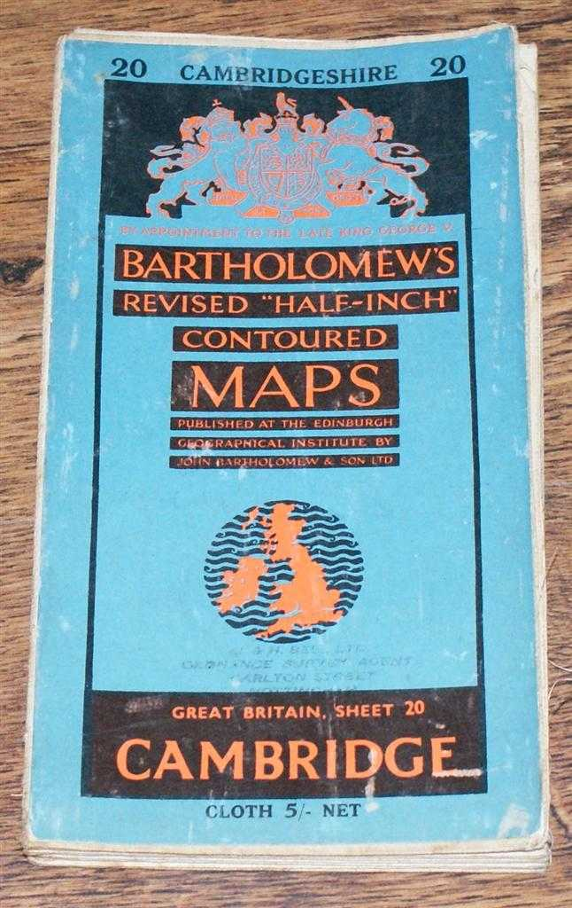 "Image for Cambridge - Bartholomew's Revised ""Half-Inch"" Contoured Maps, Great Britain Sheet 20"