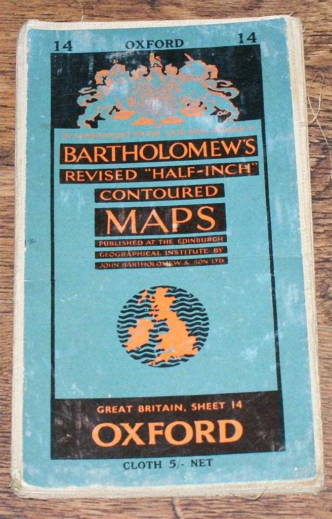 "Image for Oxford - Bartholomew's Revised ""Half-Inch"" Contoured Maps, Great Britain Sheet 14"