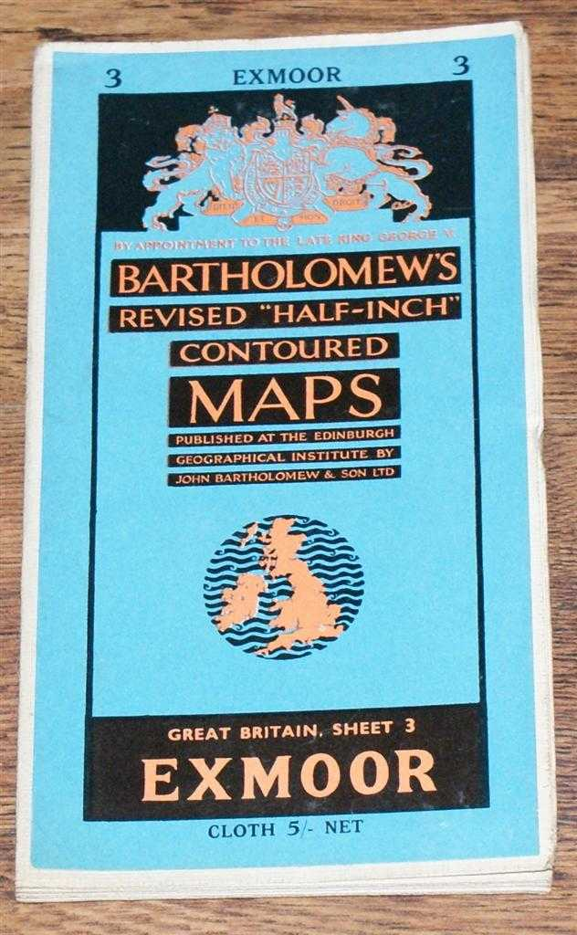 "Image for Exmoor - Bartholomew's Revised ""Half-Inch"" Contoured Maps, Great Britain Sheet 3"