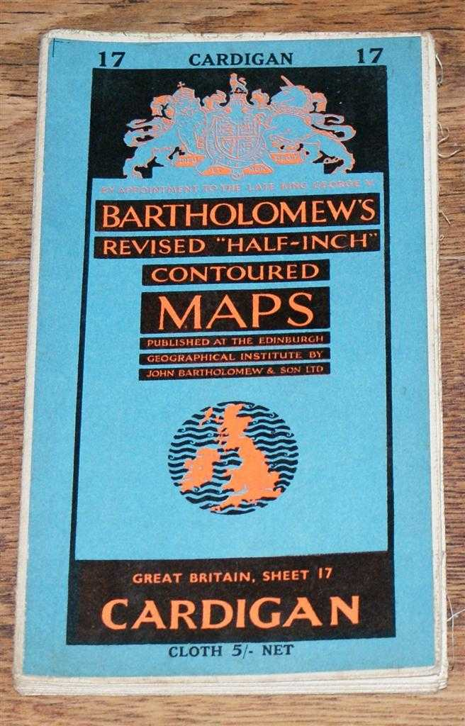 "Image for Cardigan - Bartholomew's Revised ""Half-Inch"" Contoured Maps, Great Britain Sheet 17"