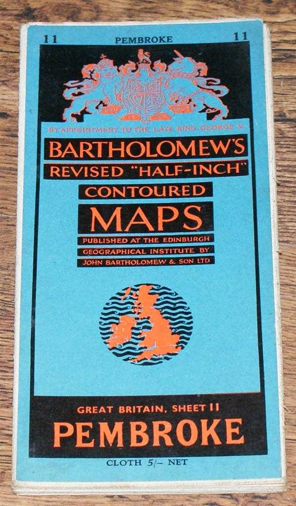"Image for Pembroke - Bartholomew's Revised ""Half-Inch"" Contoured Maps, Great Britain Sheet 11"