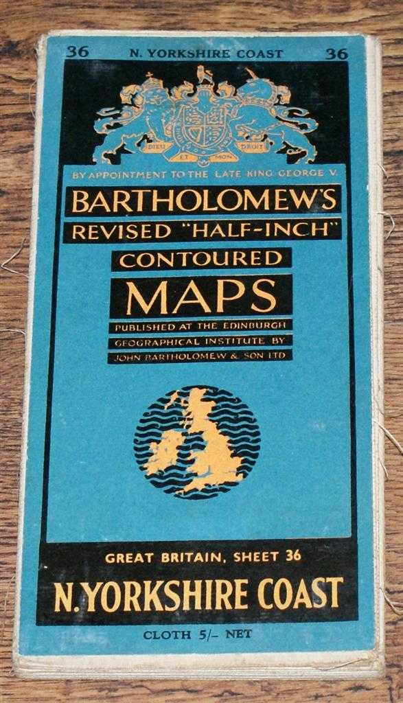 "Image for North Yorkshire Coast - Bartholomew's Revised ""Half-Inch"" Contoured Maps, Great Britain Sheet 36"