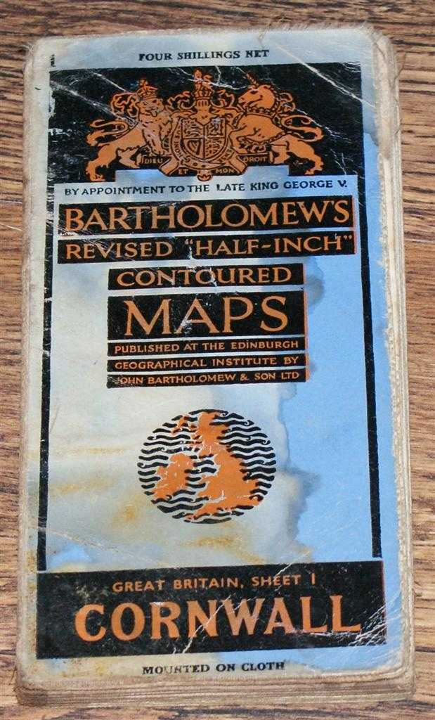 "Image for Cornwall - Bartholomew's Revised ""Half-Inch"" Contoured Maps, Great Britain Sheet 1"