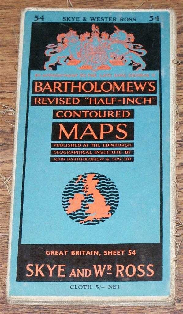 "Image for Skye and Wester Ross - Bartholomew's Revised ""Half-Inch"" Contoured Maps, Great Britain Sheet 54"