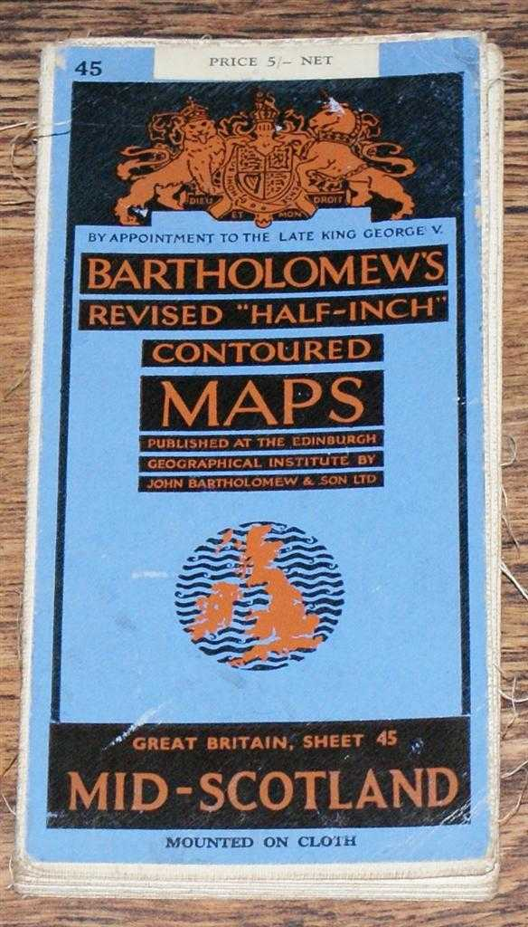 "Image for Mid-Scotland - Bartholomew's Revised ""Half-Inch"" Contoured Maps, Great Britain Sheet 45"