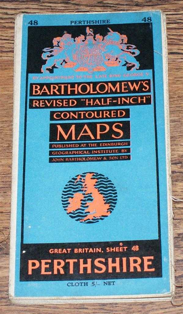 "Image for Perthshire - Bartholomew's Revised ""Half-Inch"" Contoured Maps, Great Britain Sheet 48"
