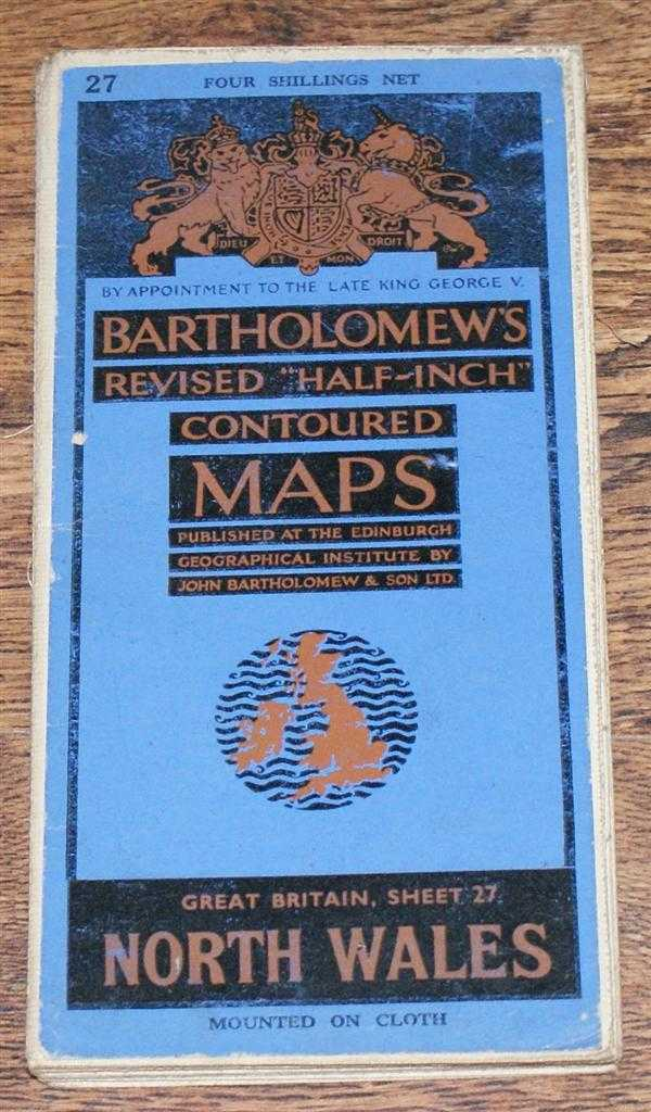 "Image for North Wales - Bartholomew's Revised ""Half-Inch"" Contoured Maps, Great Britain Sheet 27"