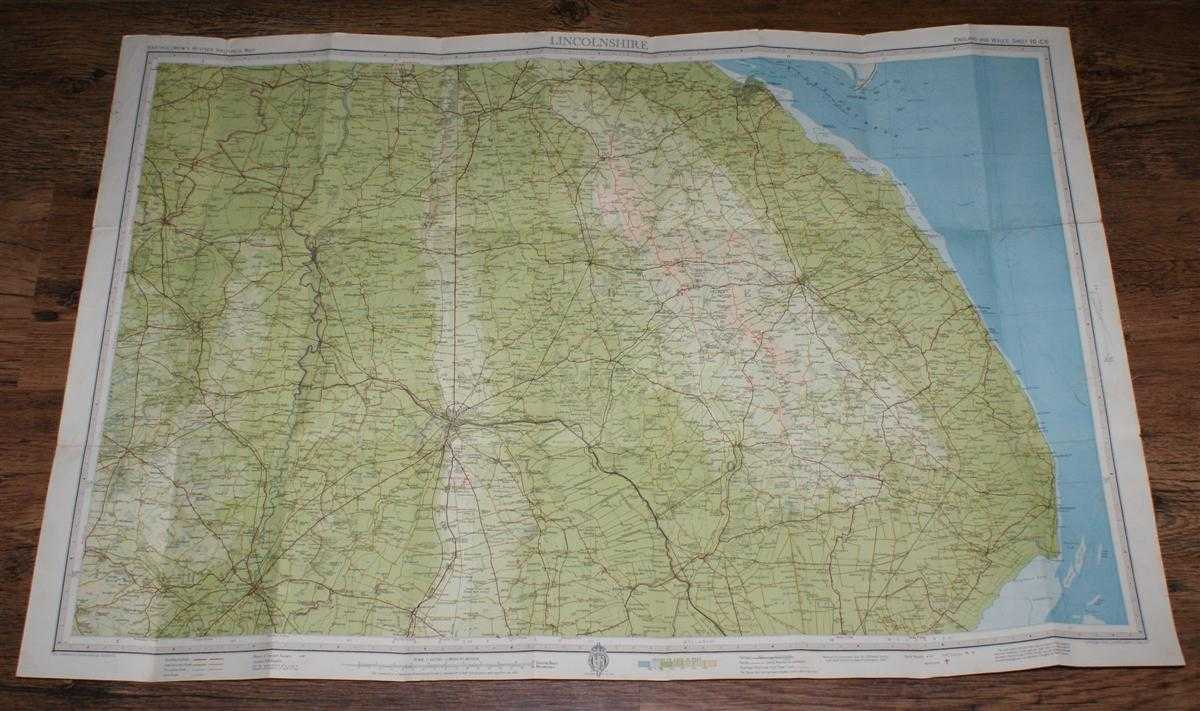 """Image for Lincolnshire - Bartholomew's Revised """"Half-Inch"""" Contoured Maps of England & Wales, Sheet 10 (C5)"""