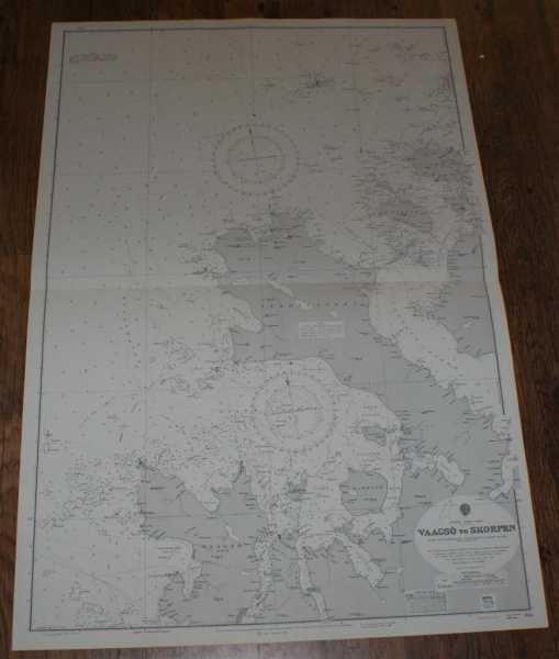 Nautical Chart No. 1145. Norway - West Coast: Vaagso to Skorpen. From The Norwegian Government Charts of 1875 with corrections 1966. Small corrections to 1974. Scale 1:51,000., Admiralty
