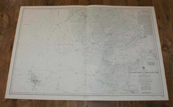 Nautical Chart No. 3767. North Sea - Germany: Norder Piep to Vortrapp Tief, including Helgoland. From The German Government Charts to 1970 with corrections to 1973. Scale 1:100,000., Admiralty
