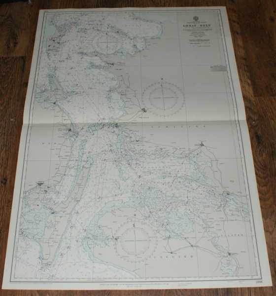 Nautical Chart No. 2118. Denmark: Entrance to the Baltic - Great Belt. From The Danish Government Charts to 1964 with additions to 1970. Small corrections to 1973. Scale 1:150,000., Admiralty