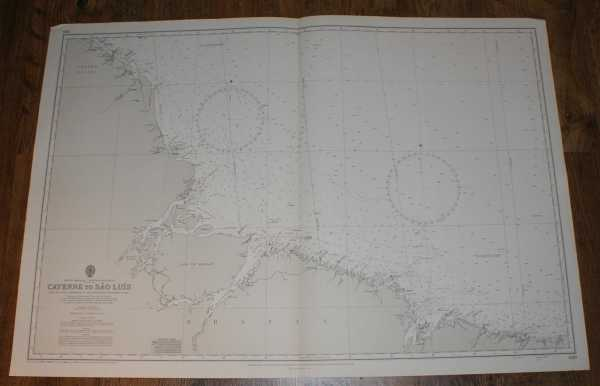 ADMIRALTY - Nautical Chart No. 520. South America, North East Coast, Cayenne to Sao Luis. From the Latest Information in the Hydrographic Department to 1965 with small corrections to 1971. Scale 1:1,500,000