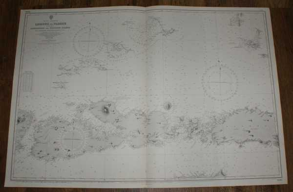 Nautical Chart No. 1696. Eastern Archipelego, Lombok to Flores including Paternoster and Postillon Islands from Netherlands Government Surveys to 1920, additions and corrections to 1950, small corrections to 1962. Scale 1:510,450, Admiralty