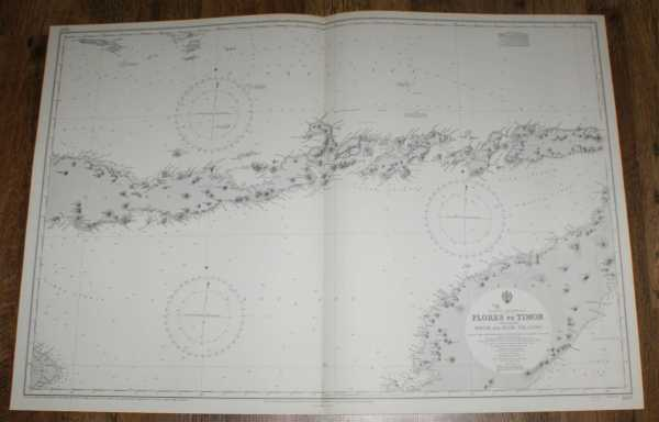 Nautical Chart No. 1697. Eastern Archipelego, Flores to Timor including Solar and Alor Islands from Netherlands Government Charts to 1924, corrections to 1950, small corrections to 1968. Scale 1:509,540, Admiralty