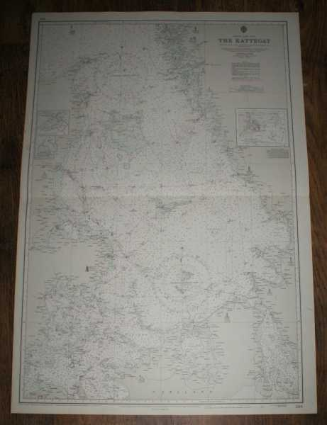 Nautical Chart No. 2114. Entrance To The Baltic, The Kattegat. Scale 1:284,000, Admiralty