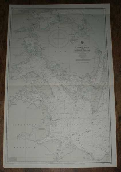 Nautical Chart No. 2116. Denmark and Germany. Entrance To The Baltic, Little Belt and Kieler Bucht. Scale 1:150,000, Admiralty