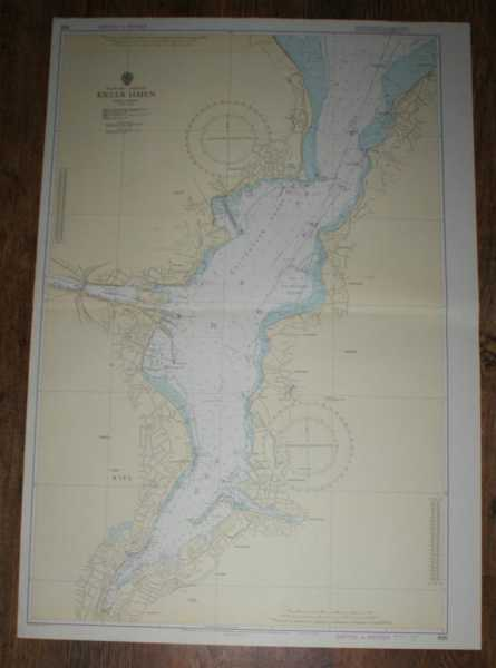 Nautical Chart No. 696. Baltic Sea, Germany, Kieler Hafen. Scale 1:12,500, Admiralty