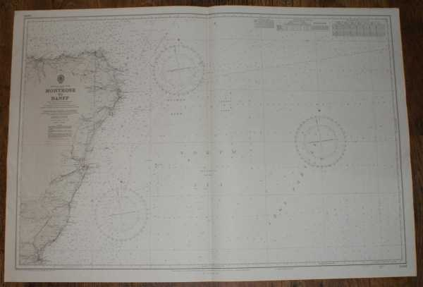 Nautical Chart No. 1409, Scotland - East Coast, Montrose to Banff, Scale 1:200,000, Admiralty