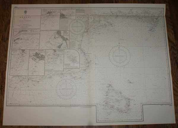 Nautical Chart No. 2360, Baltic, The Coast of Sweden, Sheet I, From Falsterbo to Kalmar Sund, Scale 1:205,000 main plan plus various others, Admiralty