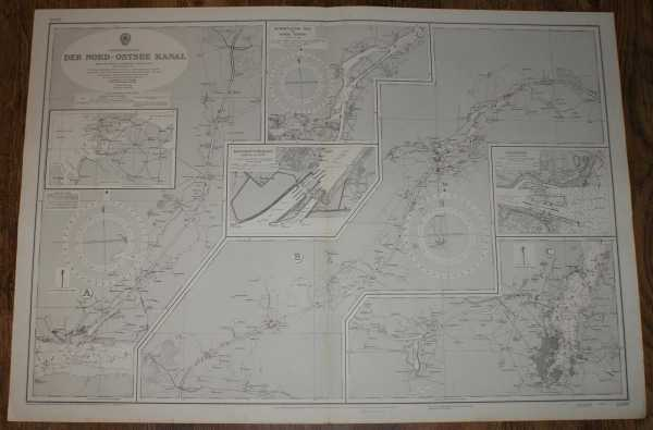 Nautical Chart No. 2469, Schleswig-Hostein, Der Nord - Ostee Kanal, various scales, Admiralty
