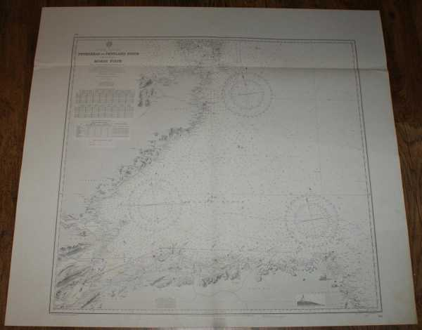Nautical Chart No. 115, Scotland - East Coast, Peterhead to Pentland Firth including Moray Firth from Various Admirality Surveys to 1956. Scale 1:200,000, Admiralty