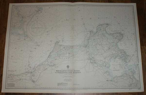 Nautical Chart No. 2365, Baltic Sea - Germany and Denmark. Mecklenburger Bucht to Greifswalder Bodden from Danish and German Government Charts to 1950 with additions to 1970, Admiralty