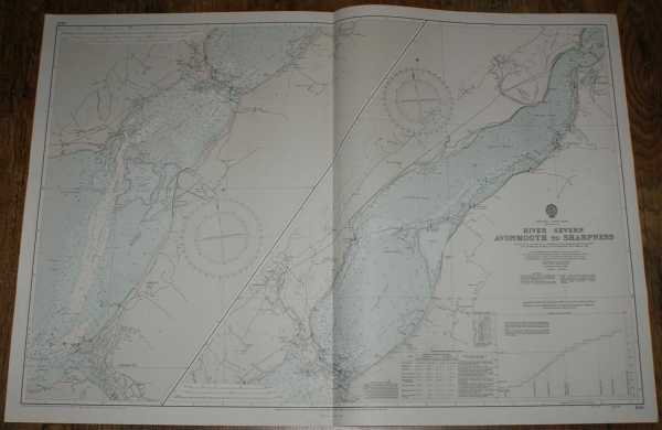 Nautical Chart No. 1166 England - West Coast, River Severn - Avonmouth to Sharpness, Admiralty