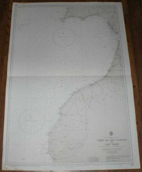 Nautical Chart No. 1228 Europe and Africa - West Coasts, Cabo de Sao Vicente to Cap Ghir, Admiralty