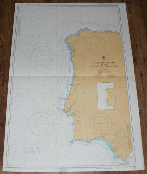Image for Nautical Chart No. 87 Spain and Portugal - Cabo Finisterre to the Strait of Gibraltar
