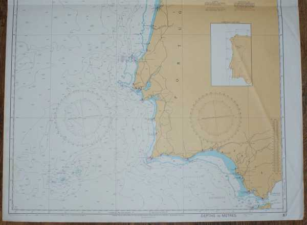 Cabo Finisterre to the Strait of Gibraltar BA Chart 87 Spain and Portugal