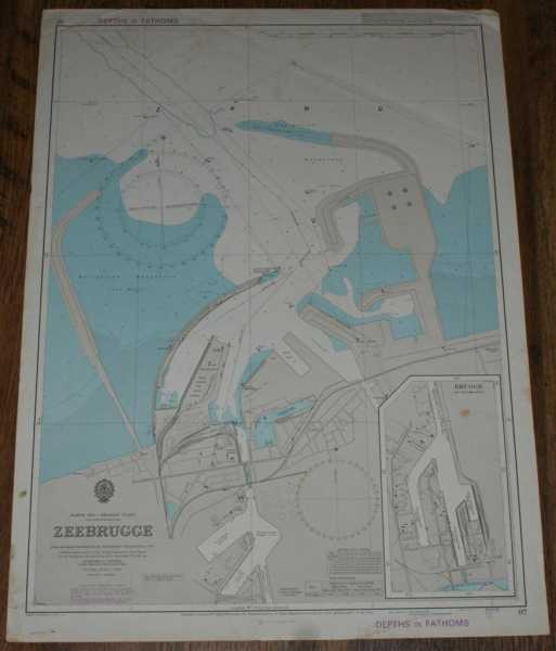 Image for Nautical Chart No. 97 North Sea - Belgian Coast, Zeebrugge