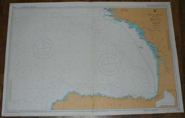 Nautical Chart No. 1104 Bay of Biscay, Admiralty