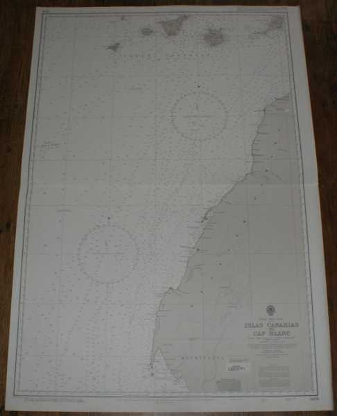 Nautical Chart No. 3251 Africa - West Coast, Islas Canarias to Cap Blanc, Admiralty
