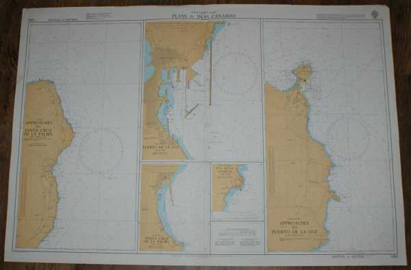Image for Nautical Chart No. 1856 North Atlantic Ocean - Plans in Islas Canarias