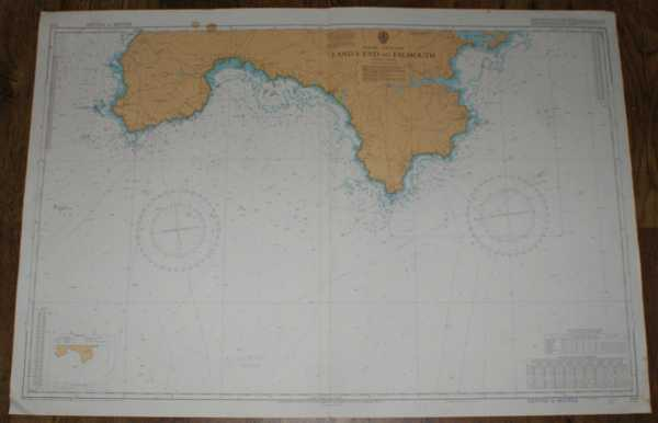 Nautical Chart No. 777 England - South Coast, Land's End to Falmouth, Admiralty
