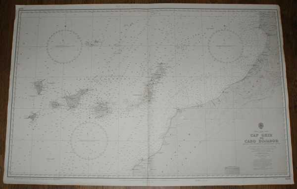Nautical Chart No. 1229 Africa - West Coast, Cap Ghir to Cabo Bojador (inc. Islas Canarias), Admiralty
