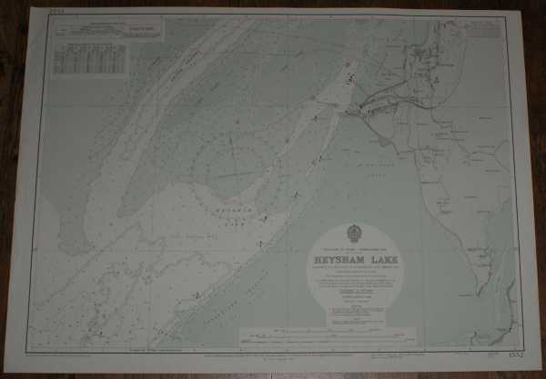 Nautical Chart No. 1552 England W. Coast - Morecambe Bay, Heysham Lake, Admiralty