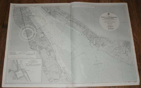 Nautical Chart No. 3477 England - West Coast, Port of Liverpool Southern Sheet, Admiralty