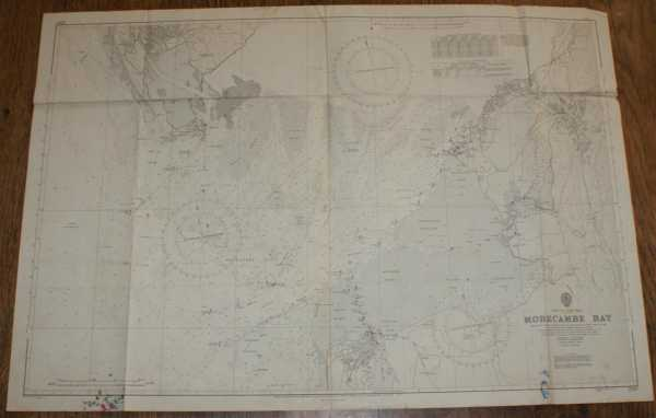 Nautical Chart No. 2010 England - West Coast, Morecambe Bay, Admiralty