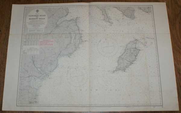 Nautical Chart No. 45: Irish Sea - Clogher Head to Burrow Head (inc. Isle of Man) Scale 1:200,000., Admiralty