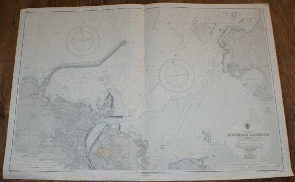 Nautical Chart No. 2011 Wales - North Coast, Holyhead Harbour, Admiralty