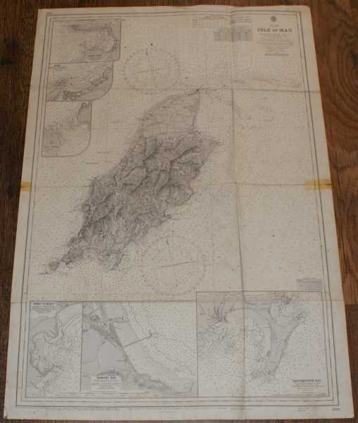 Nautical Chart No. 2094. Irish Sea - Isle of Man. Scale 1:91,200., Admiralty