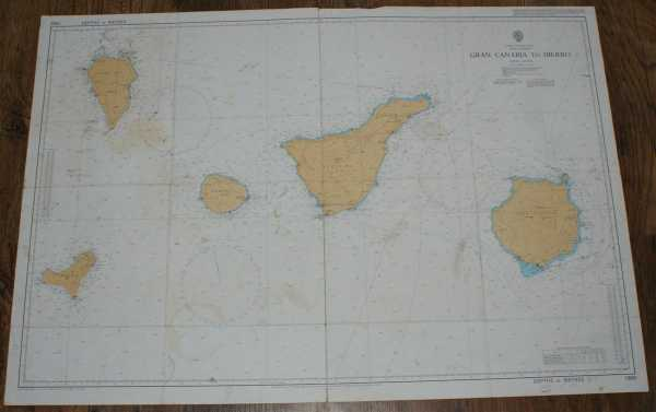 Image for Nautical Chart No. 1869 Islas Canarias - Gran Canaria to Hierro