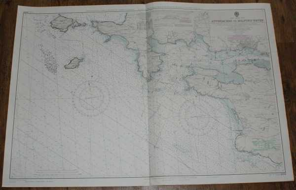 Nautical Chart No. L(D1)2878. Wales - South Coast. Approaches to Milford Haven., Admiralty