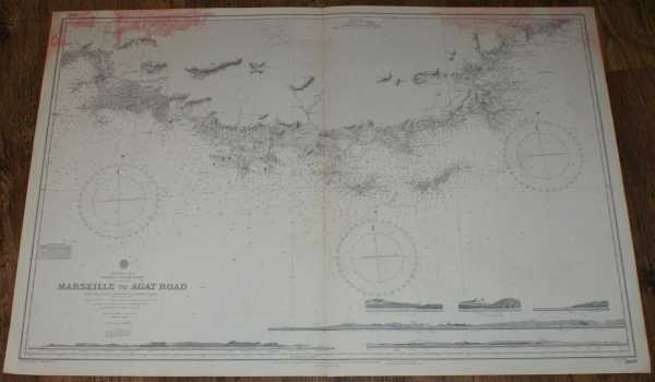 Nautical Chart No. 2607 Mediterranean, France - South Coast, Marseille to Agay Road, Admiralty
